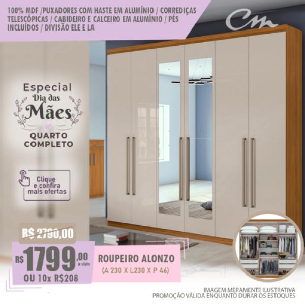 ESPECIAL DIA DAS MÃES QUARTO COMPLETO - CLICK E CONFIRA AS OFERTAS