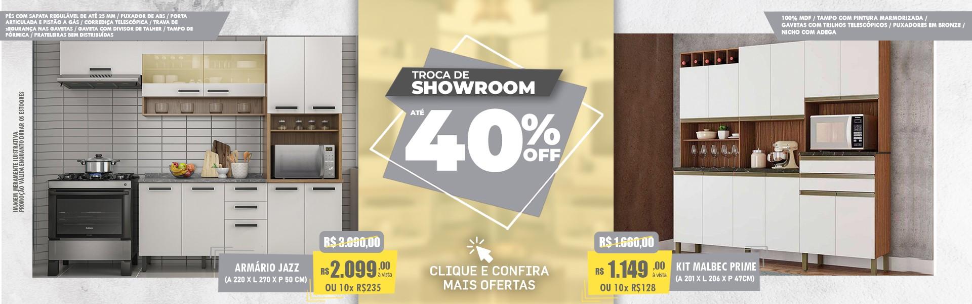 TROCA DE SHOWROOM ATÉ 40% OFF