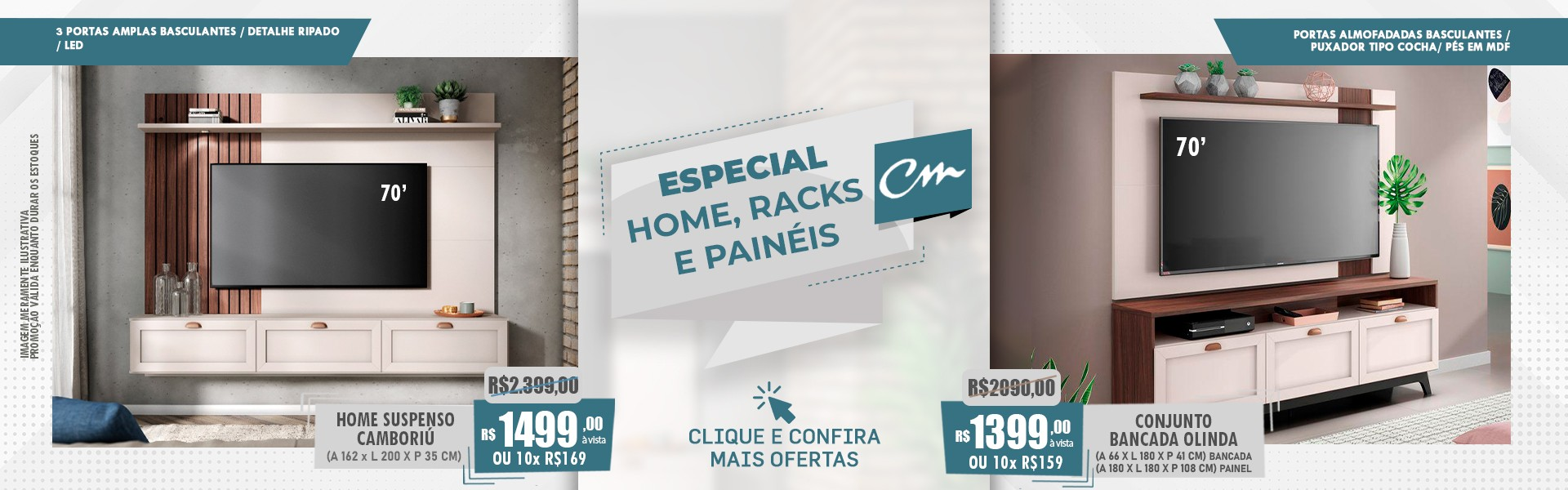 ESPECIAL HOME, RACKS E PAINÉIS